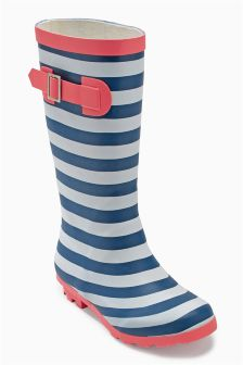Striped Wellington Boots (Older Girls)