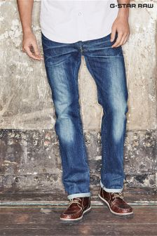 G-Star Mid Wash Reven Straight Stretch Jean
