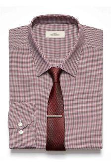 Burgundy Gingham Shirt
