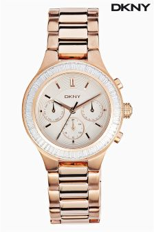 Rose Gold DKNY Chambers Watch