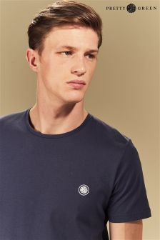 Pretty Green Navy Logo T-Shirt