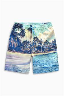 Photographic Beach Swim Shorts (3-16yrs)