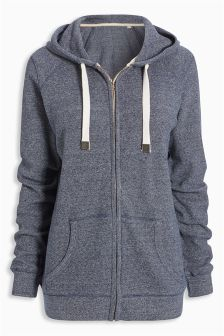 Waffle Zip Through Hoody