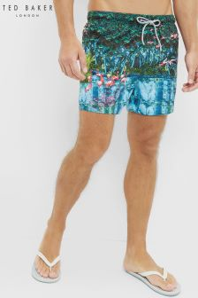 Ted Baker Flamingo Print Swim Short
