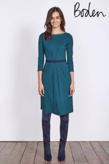 Boden Emerald Night Petal Geo Veronica Jersey Dress