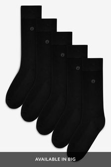 Plain Cushion Sole Socks Five Pack