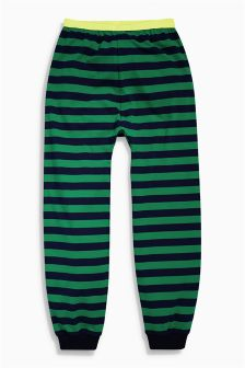 Green Stripe Joggers (3-16yrs)