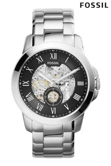 Silver Fossil™ Grant Automatic Movement Watch