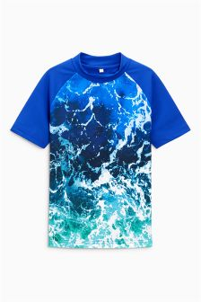 Wave Print Rash Vest (3-16yrs)