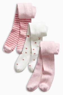 Strawberry Tights Three Pack (0mths-2yrs)