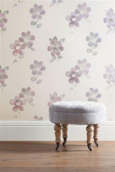 Mauve Watercolour Bloom Wallpaper