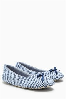 Gingham Slippers