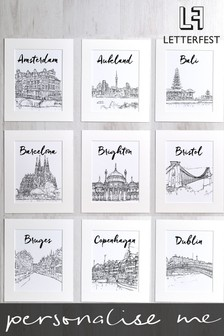 Personalised Favourite City Print By Letterfest