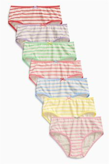 Multi Stripe Hipsters Seven Pack (3-16yrs)