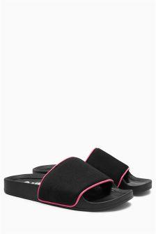 Slogan Slider Sandals