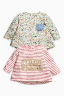 Long Sleeve Tops Two Pack (0mths-2yrs)