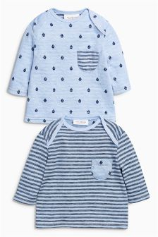 Blue T-Shirts Two Pack (0mths-2yrs)