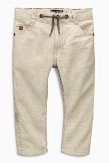 Linen Blend Roll Leg Trousers (3-16yrs)