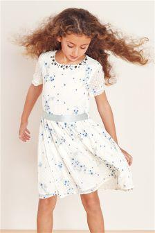 Ecru Lace Prom Dress (3-14yrs)