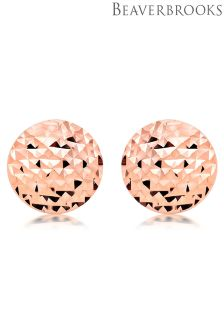Beaverbrooks 9ct Rose Gold Circle Stud Earrings