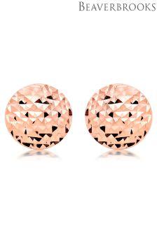Beaverbrooks 9ct Rose Gold Circle Stud Earrings