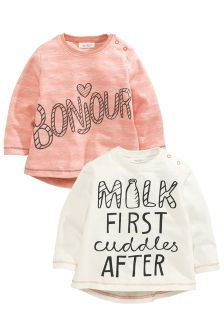 Two Pack Slogan T-Shirts (0-18mths)
