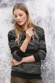 Stitch Embellished Sweater