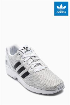 adidas Originals White/Black ZX Flux