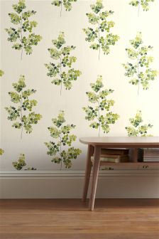 Green Country Sprig Paste The Wall Wallpaper