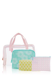 Set Of 4 Pastel Cosmetic Bags
