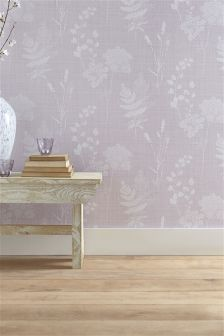 Cow Parsley Mauve Wallpaper