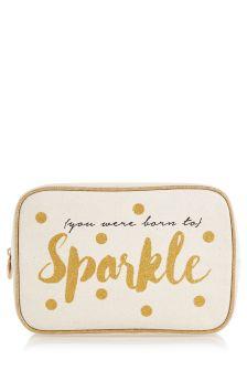 Sparkle Slogan Make-Up Bag
