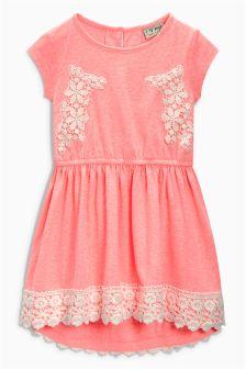 Lace Trim Dress (3-16yrs)