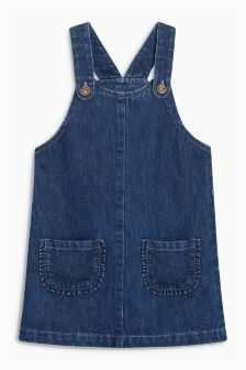 Ruffle Pocket Pinafore Dress (3mths-6yrs)