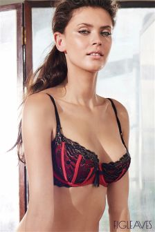 Figleaves Red Seduction Sheer Bra