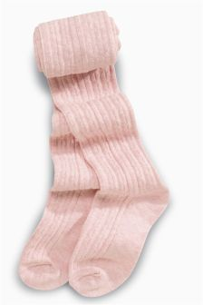 Pink Cable Tights One Pack (3-16yrs)
