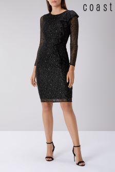 Coast Black Reva Lace Shift Dress