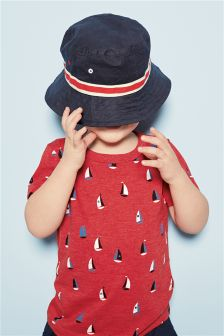 Red All Over Boat Print T-Shirts Three Pack (3mths-6yrs)