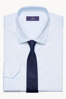 Abbott Striped Shirt & Tie Set