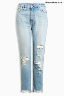 Abercrombie & Fitch Light Destroyed Vintage Straight Jean