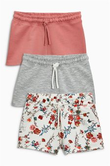 Floral Shorts Three Pack (3-16yrs)