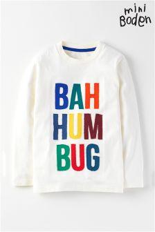 Boden Ecru Bah Hum Bug Christmas Jumper