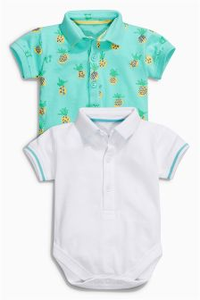 Pineapple Polo Shirt Body Two Pack (0mths-2yrs)