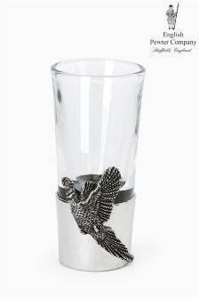 English Pewter Company Pheasant Shot Glass