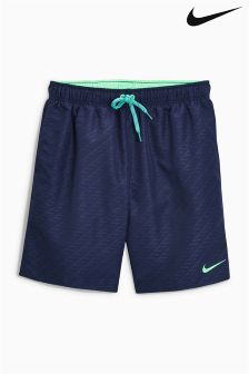 "Nike Navy Core 7"" Volley Swim Short"