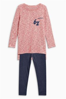 Red Knit Look Set (3-16yrs)