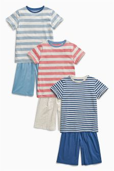 Stripe Short Pyjamas Three Pack (3-16mths)