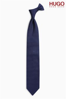 Hugo By Hugo Boss Navy Textured Tie