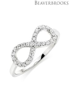 Beaverbrooks Silver Cubic Zirconia Infinity Ring