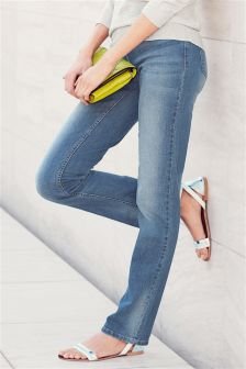 Mid Blue Authentic Slim Jeans